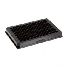 Corning #3603 96 Well Flat Clear Bottom Black Polystyrene TC-Treated Microplates, Individually Wrapped, with Lid, 48 plates/cs